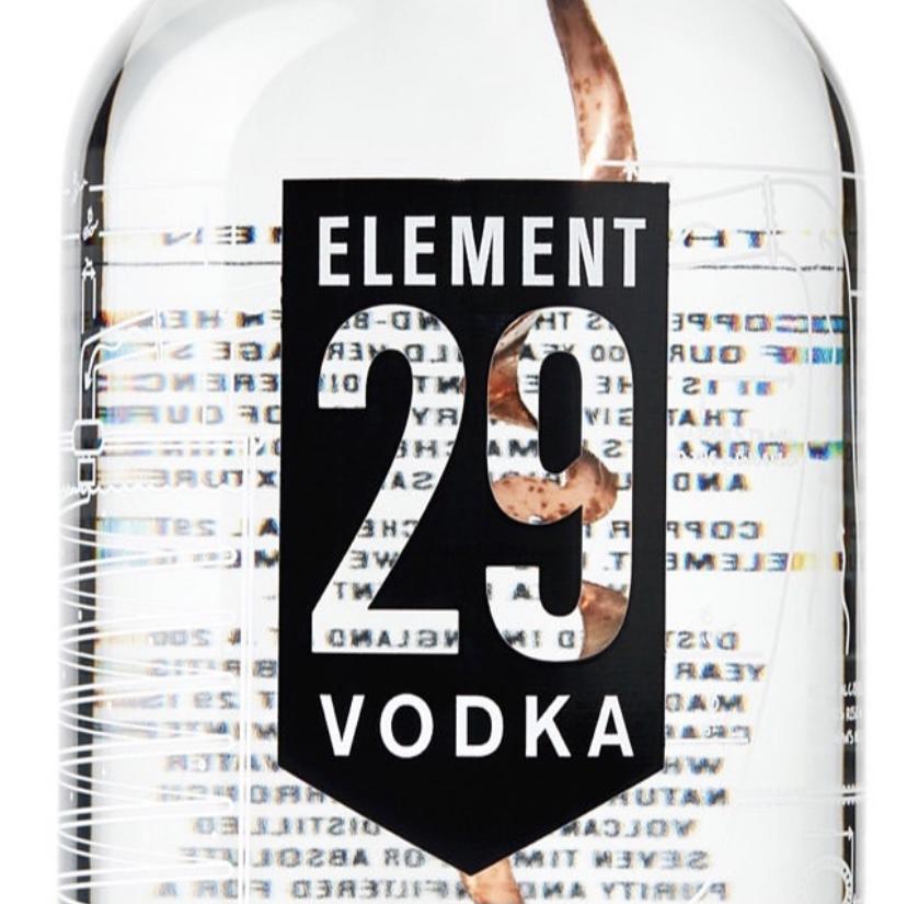 Vodka Element 29 - Bouteille -vodka Element 29 - bar à cocktail - bar - restaurant