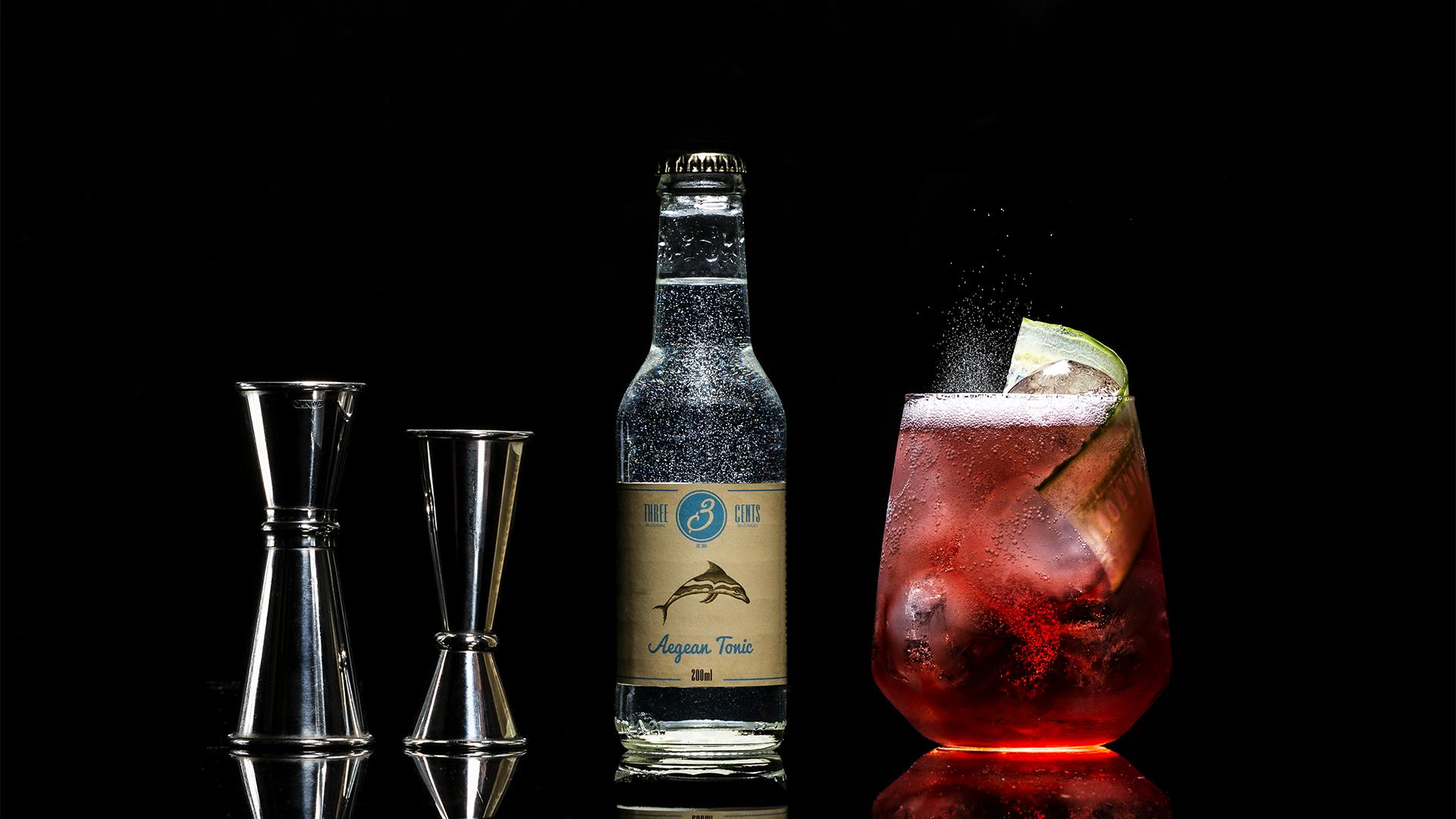 Soda de la marque Three Cents - Au goût Aegean Tonic