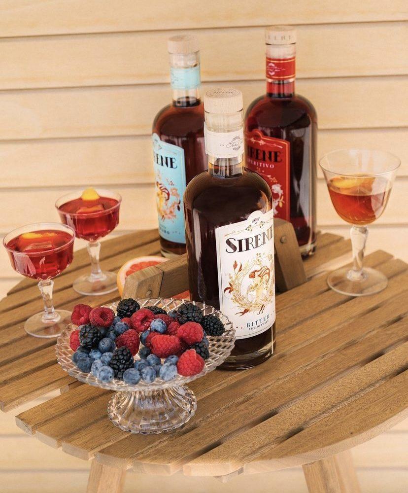 Bouteille Sirene - Liquore delle Sirene - Amaro - Aperitivo - Bitter - Italie